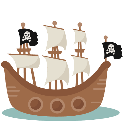 Large pirate ship2 cliparts