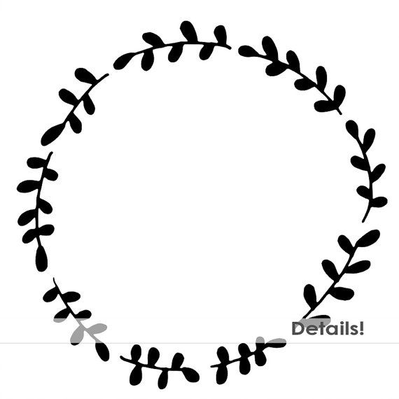 Laurel wreath border clipart