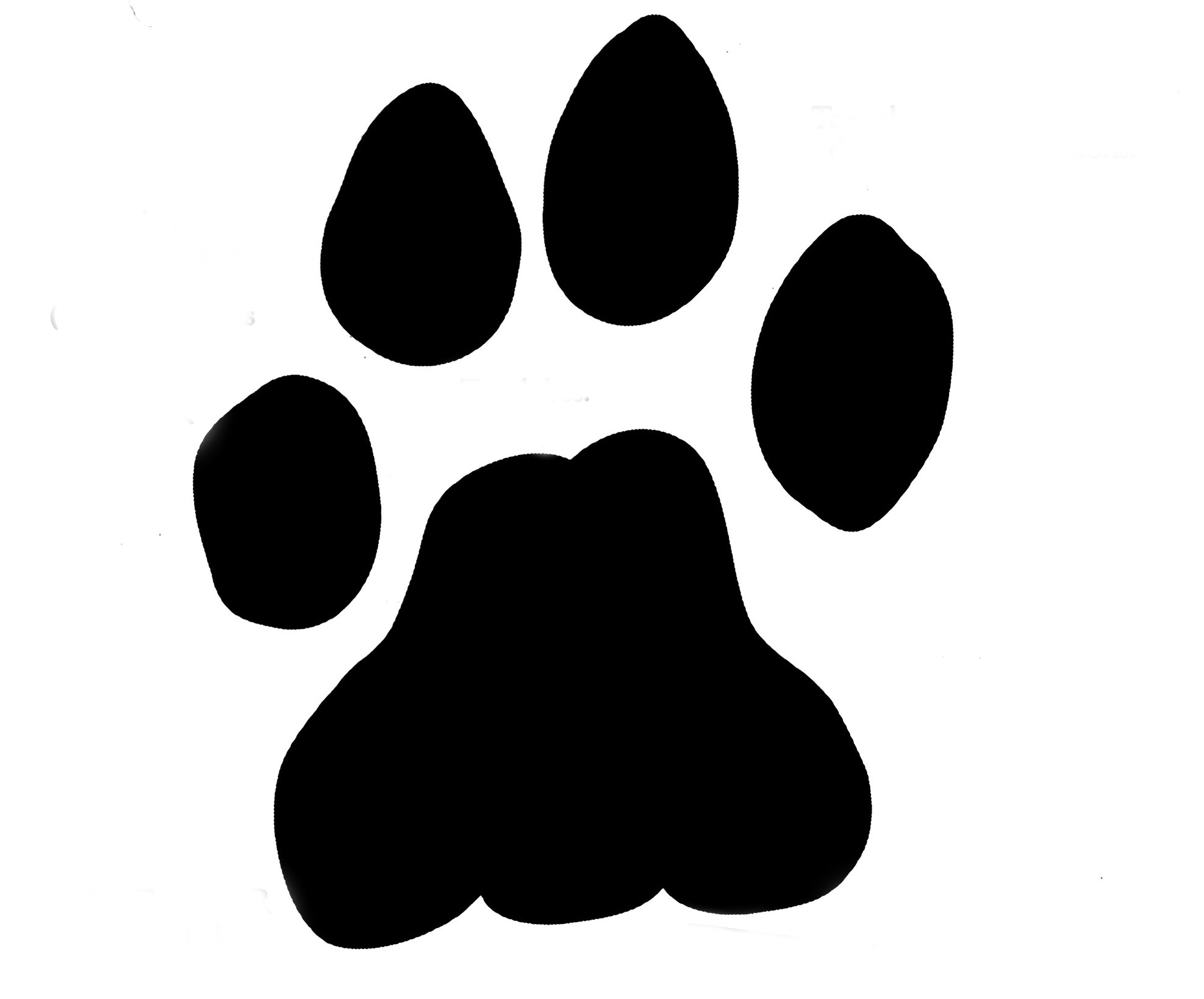 Lion paw print clipart kid 4