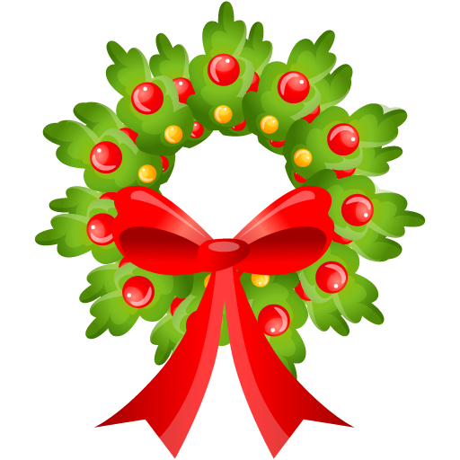 Merry christmas wreath clipart kid