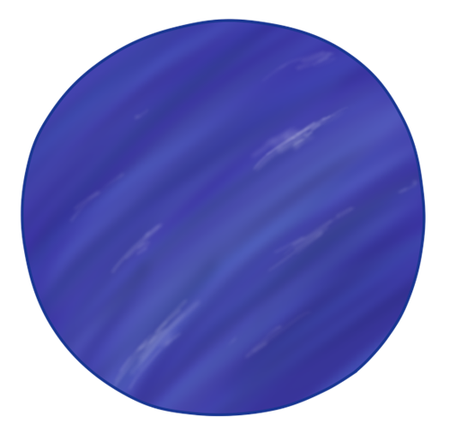 Neptune planet clipart kid