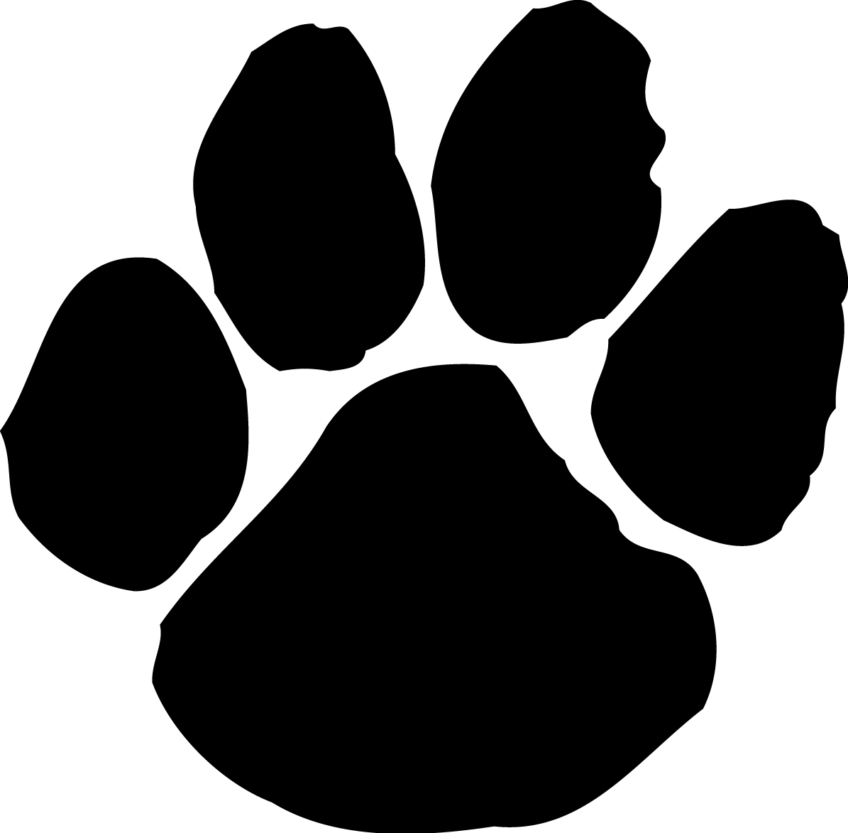 Paw print tattoos on dog paw prints scroll clipart 3