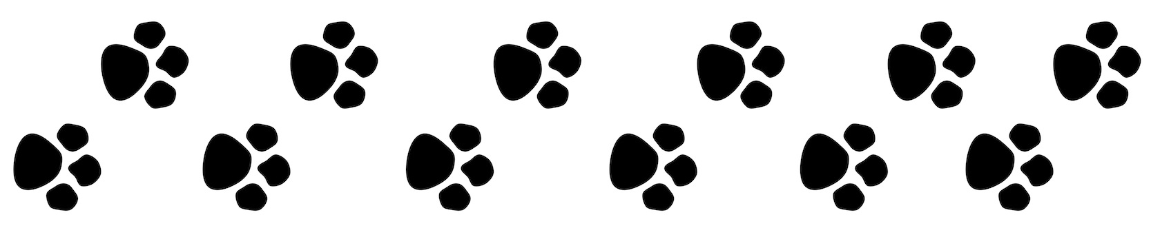 Paw print trail clipart kid