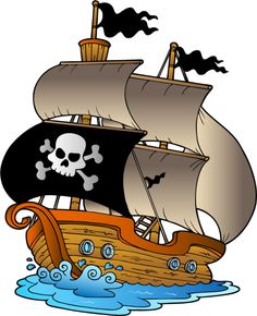 Pirate ship baby shower pirates and album clip art