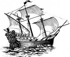 Pirate ship clip art free vector in open office drawing svg 3