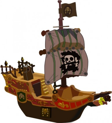 Pirate ship clip art free vector in open office drawing svg