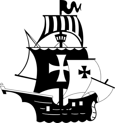 Pirate ship clipart black and white free