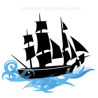 Pirate ship clipart free vector graphics freevectors