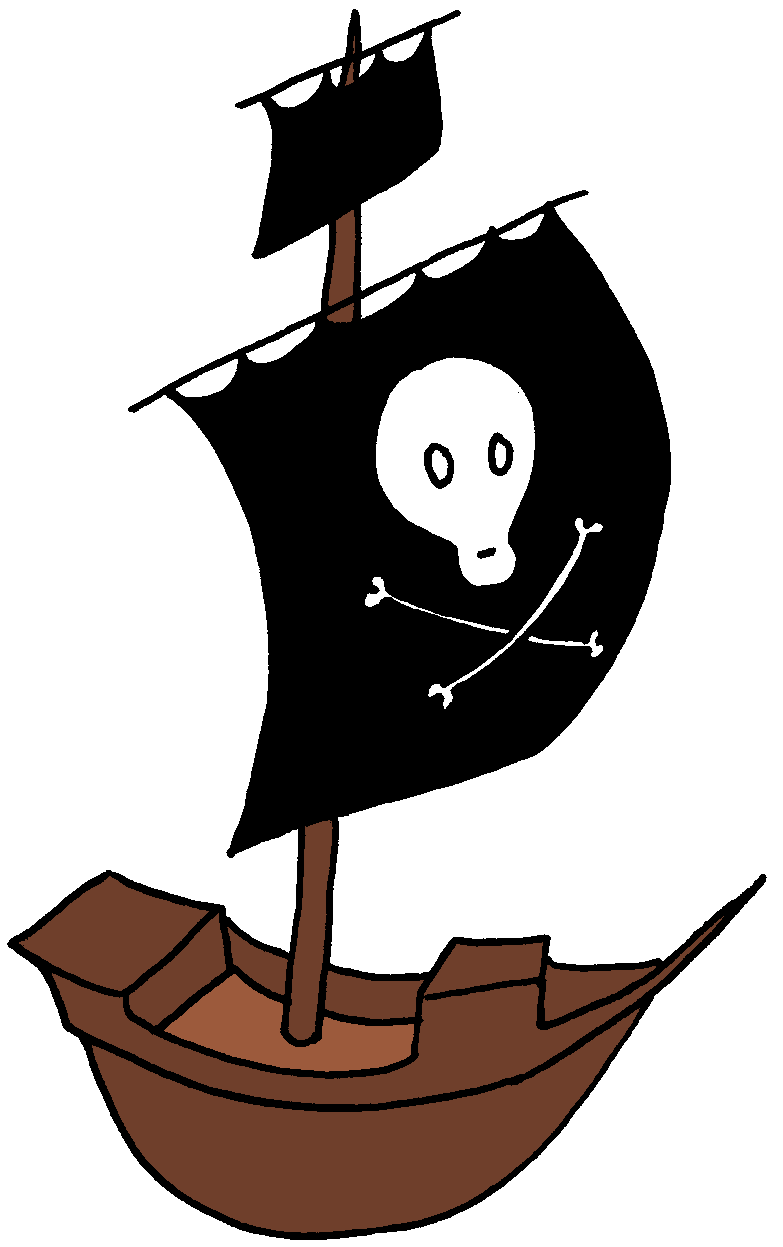 Pirate ship clipart kid 5