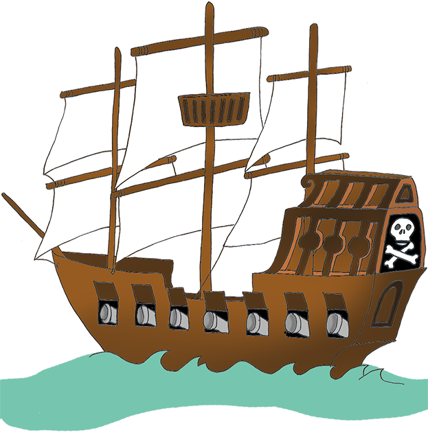 Pirate ship pirate clip art