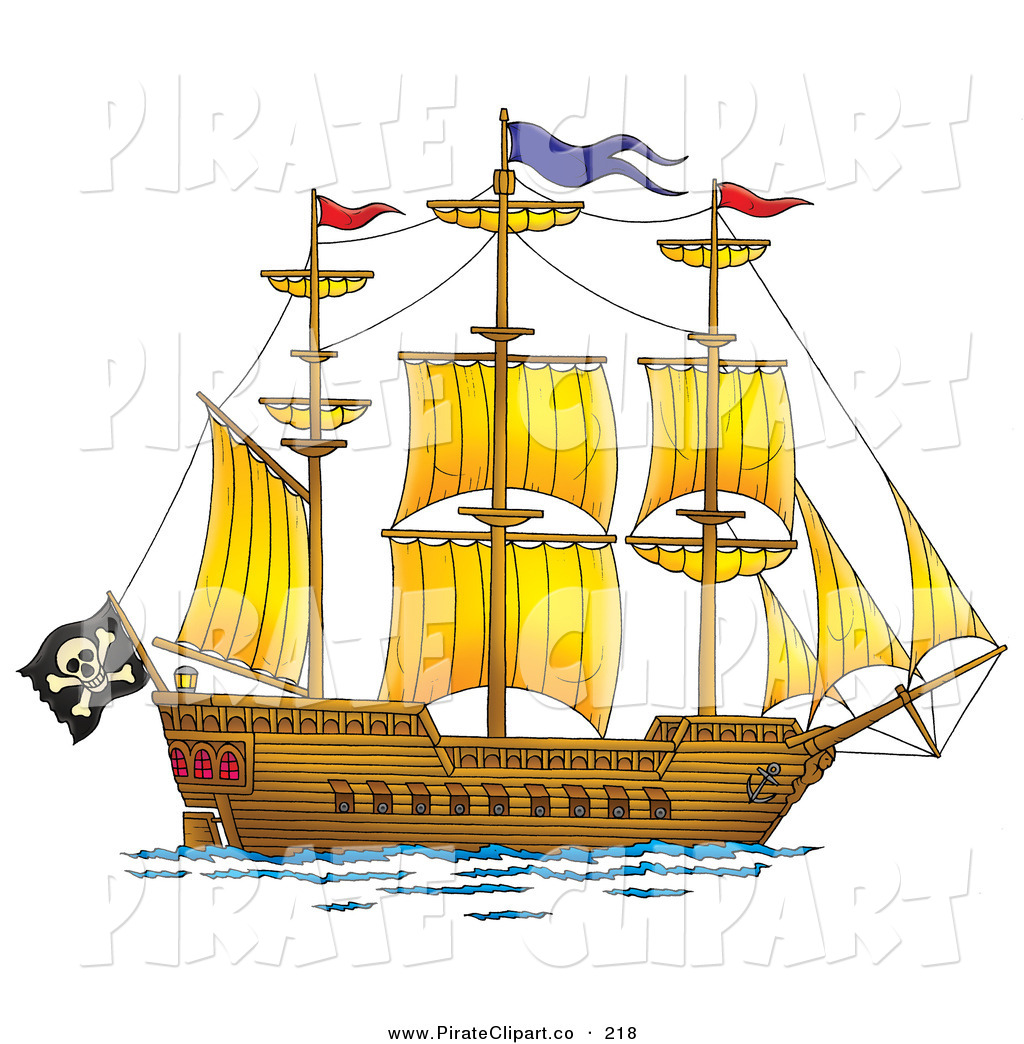 Pirate ship pirate sail clipart kid