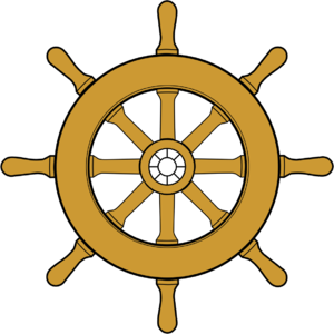 Pirate ship wheel clipart