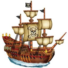 Pirates clipart free pirate ship clip art vector
