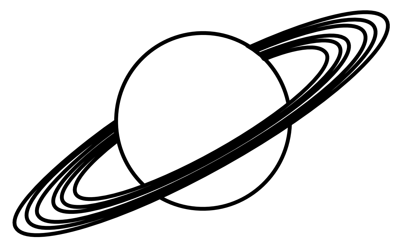 Planet clipart black and white free images
