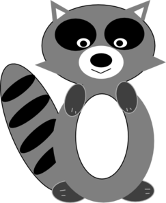Raccoon clip art at vector clip art 2
