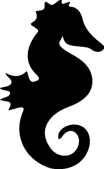 Seahorse silhouette clip art free vector 4vector