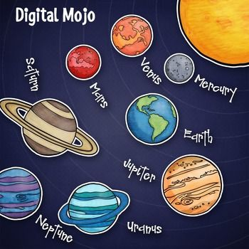 Solar system and planet clipart 8 planets