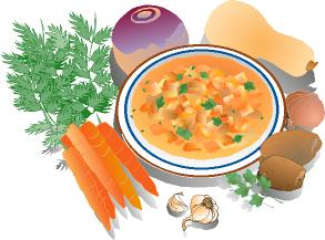 Soup clipart black and white free images 2 image 2