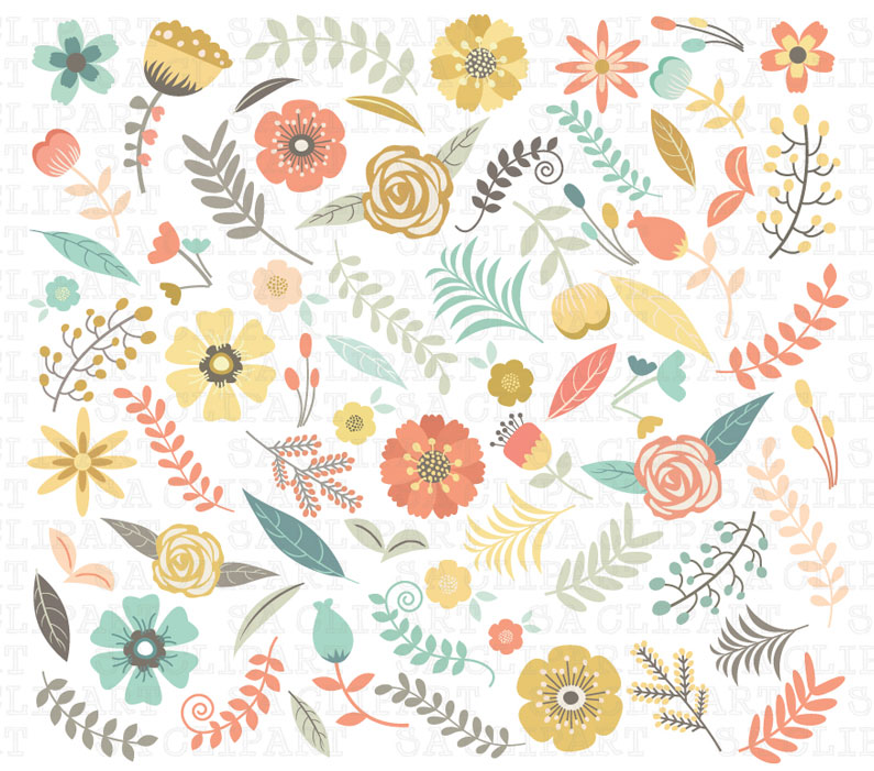 The floral flower clipart graphics
