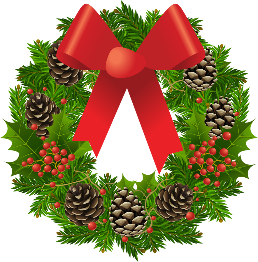 Transparent christmas wreath clipart picture 0