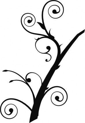 Twisted branch clip art trees climbing vines clip