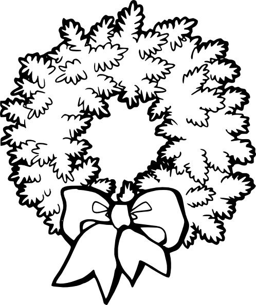 Wreath christmas graphics and clipart image