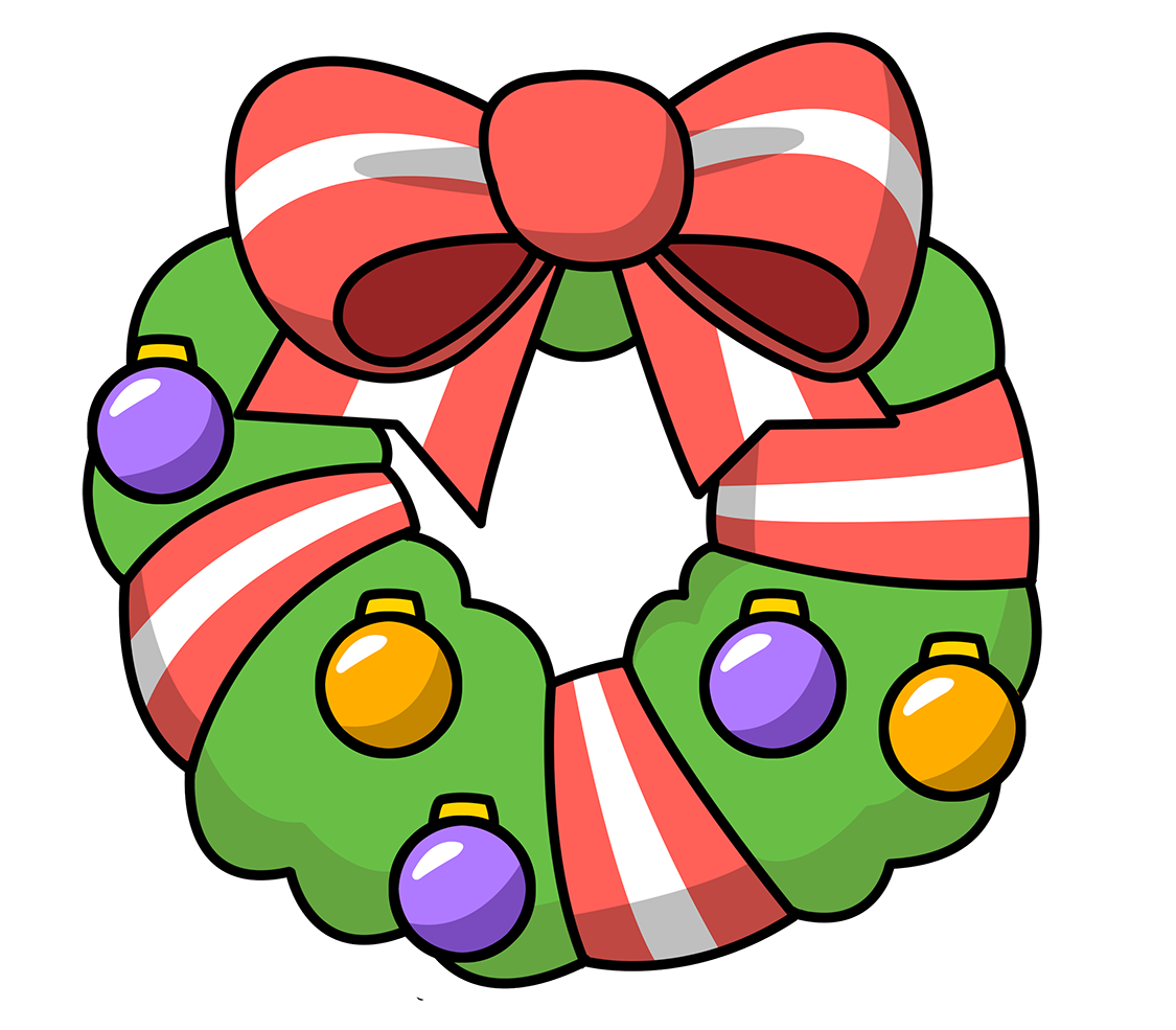 Wreath clipart christmas garland free images image