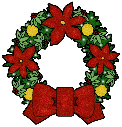 Wreath clipart christmas garland free images