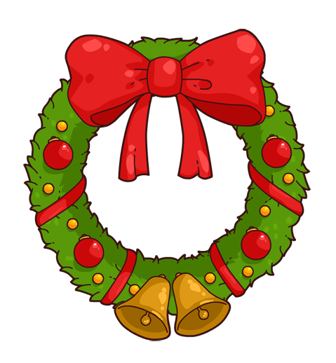 Wreath clipart kid 2
