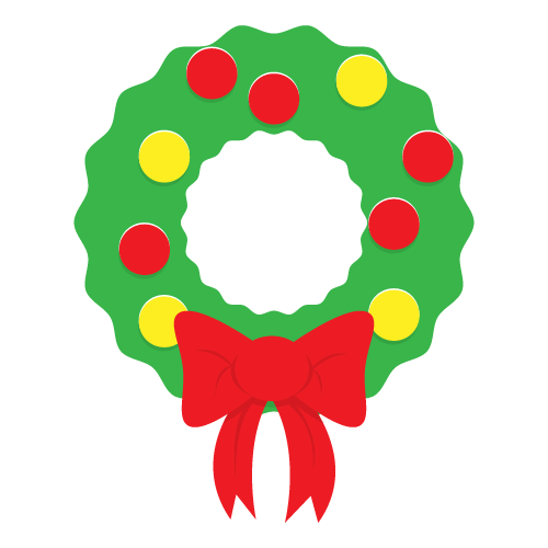 Wreath clipart kid 3