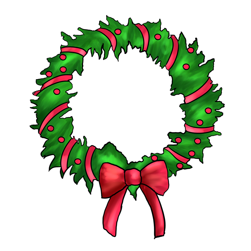 Wreath clipart kid