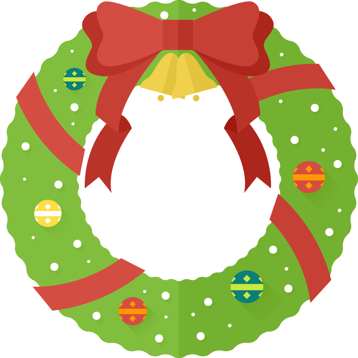 Xmas wreath clipart kid