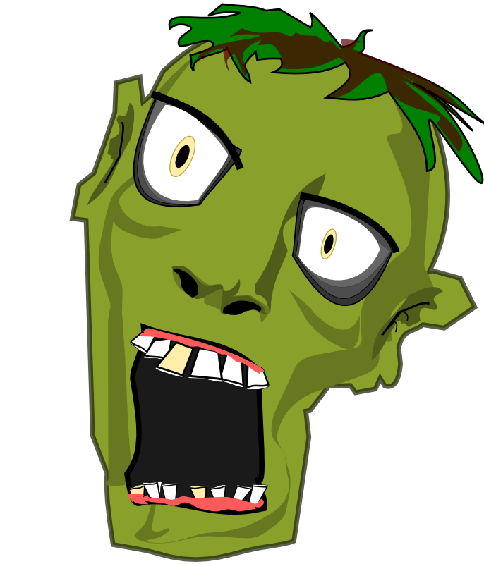 Zombie free to use clip art