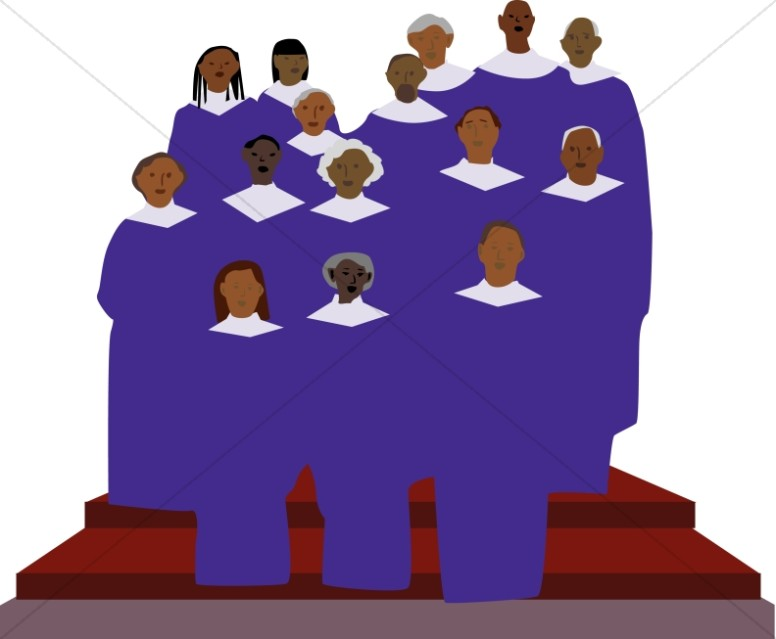 African american choir clipart