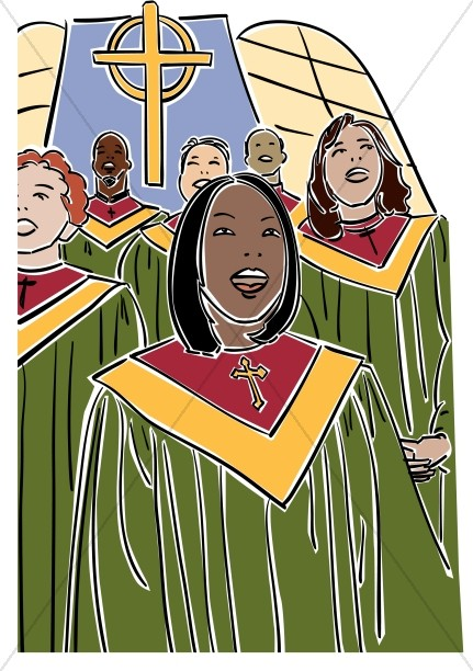 African american church choir clipart