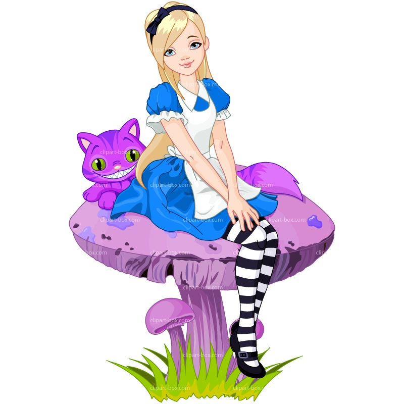 Alice in wonderland clip art digital graphic alice
