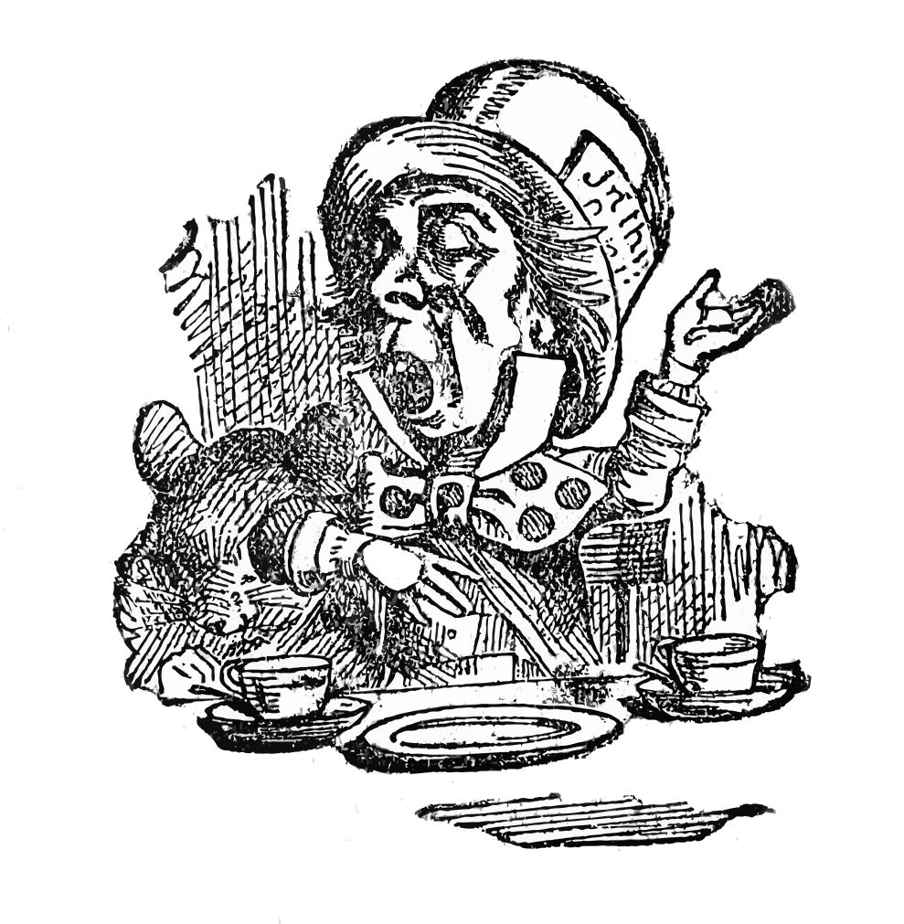 Alice in wonderland clip art mad hatter cat the