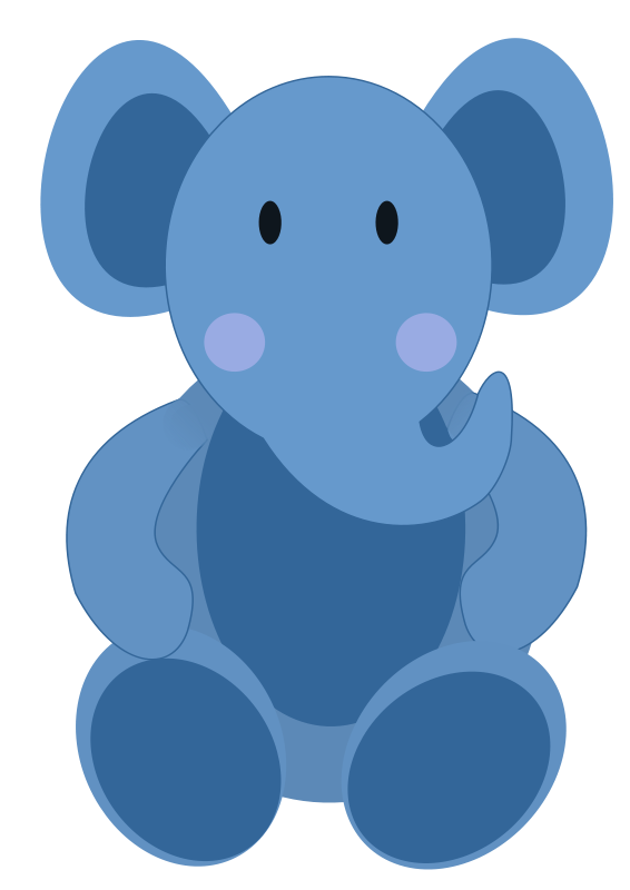 Baby elephant blue elephant clipart kid