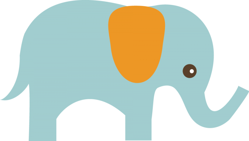 Baby elephant clipart kid 3