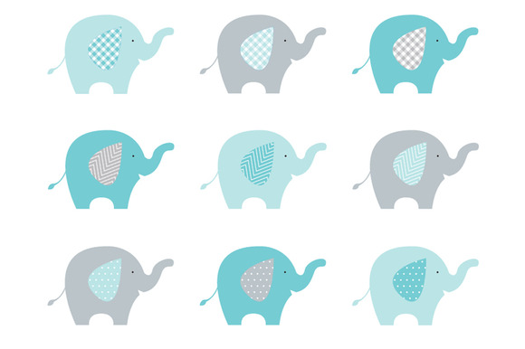 Baby elephant elephant clipart baby shower 2