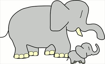 Baby elephant free elephants clipart graphics images and photos
