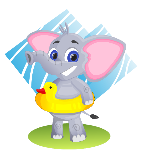 Baby elephant free to use clip art