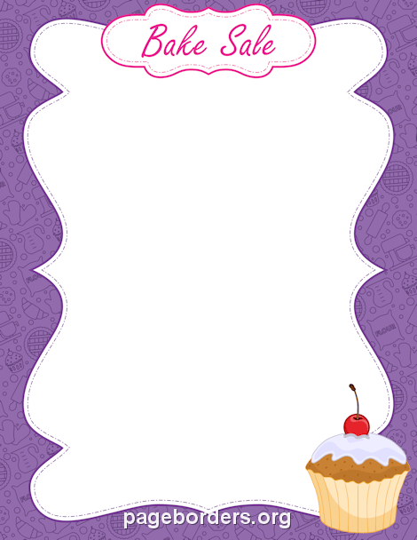 Bake sale border clip art page and vector graphics