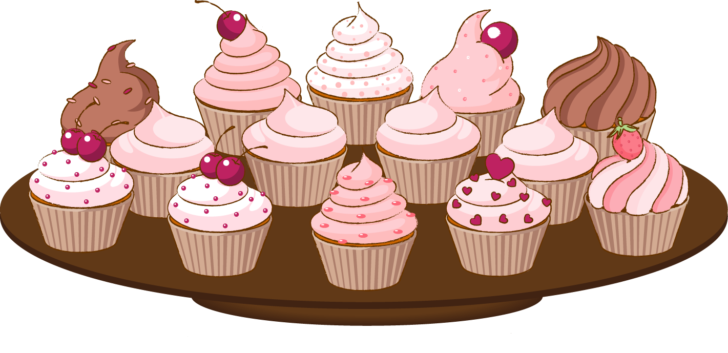 Bake sale clip art of a cupcake with sprinkles cake clipart