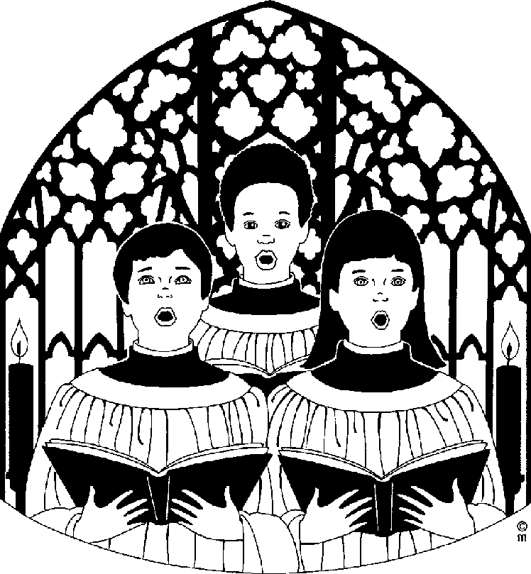 Black church choir clipart kid
