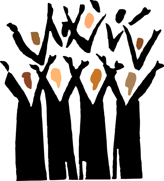Choir singers clipart kid