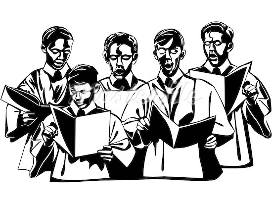 Church choir clip art 4