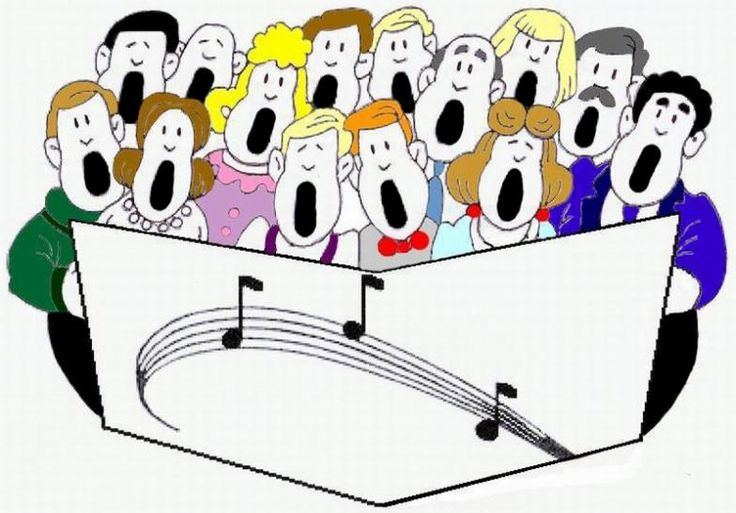 Church choir clip art