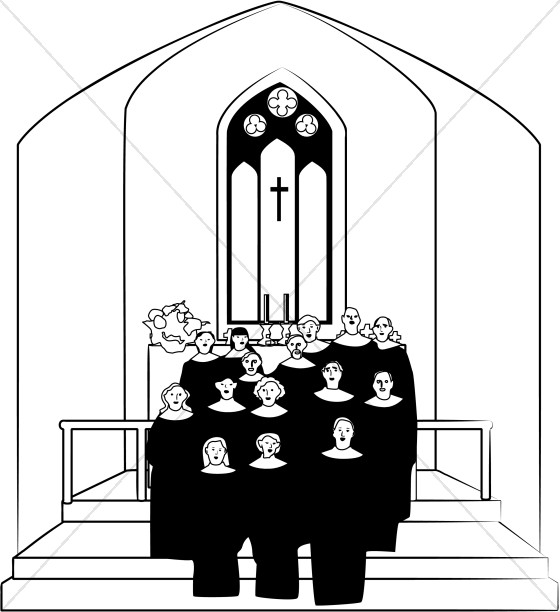 Church choir clipart graphic image