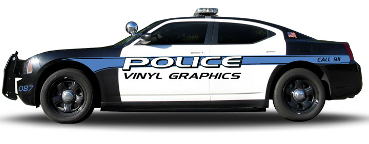 Custom police car graphics dodge charger kit designs clipart